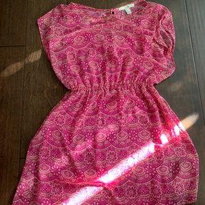 Orange and Pink Summer Dress
